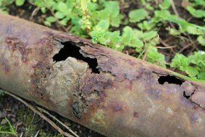 reparación de tuberías con manga