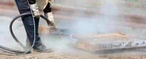Limpieza con chorro de arena en Albacete